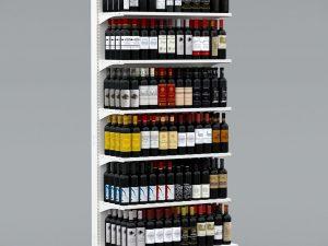 Стелаж металевий для алкогольних напоїв, води, олії, хімії, побутових товарів