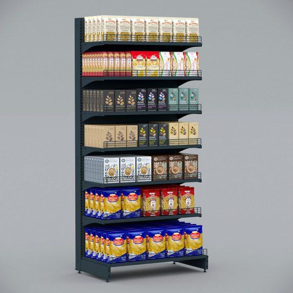 чорний Стелаж металевий для круп, макаронних виробів, круп, муки, солі, цукру, снеків
