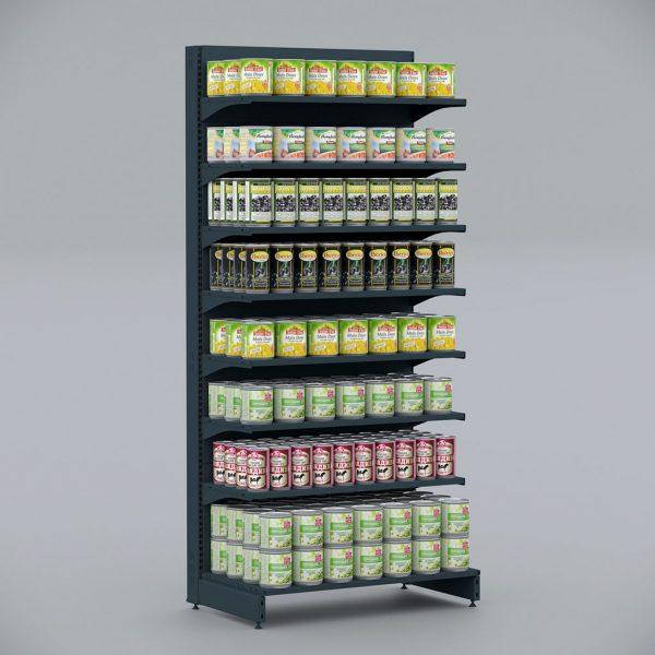 Чорний Стелаж металевий для консервації, соусів